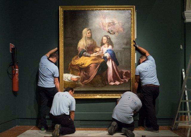 Santa Ana enseñando a leer a la Virgen, de Murillo, en Fundación Focus Abengoa