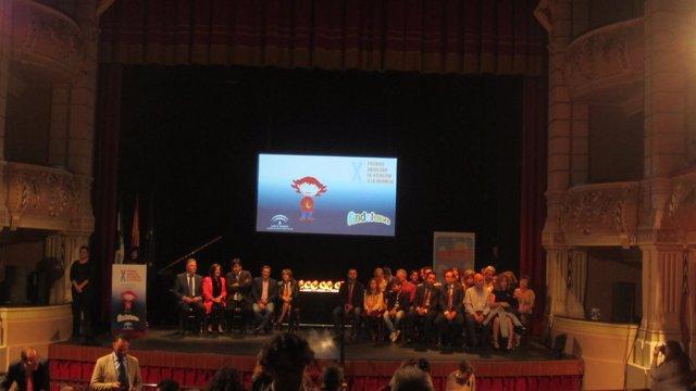 Entrega de los premios Andaluna en Huelva.
