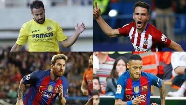 Mario Gaspar Saúl Ñíguez Leo Messi Neymar Premio Puskas