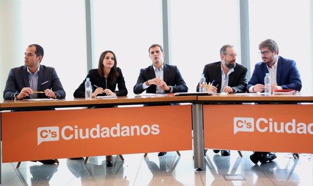 Albert Rivera preside la Ejecutiva Nacional de Ciudadanos