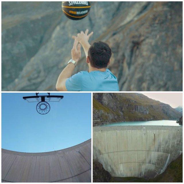 Canasta desde 180 metros de altura, nuevo récord del mundo