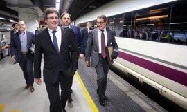 Puigdemont, Junqueras, Mas y diputados viajan a Madrid para apoyar a Homs