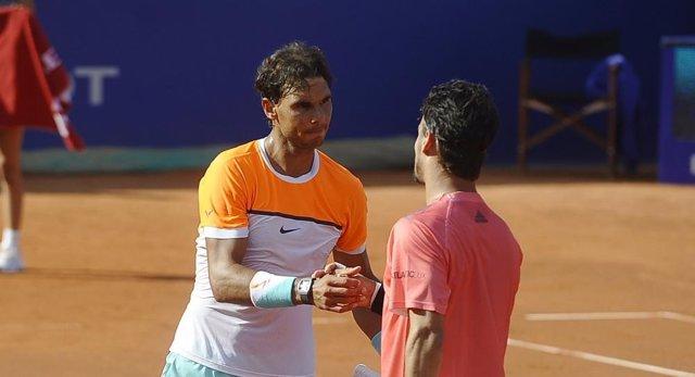 Rafa Nadal y Fabio Fognini en el Conde de Godó