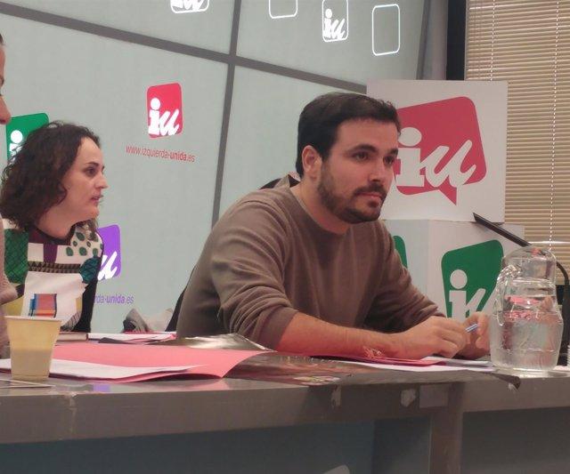 Alberto Garzón en la reunión de la Coordinadora  Federal de IU