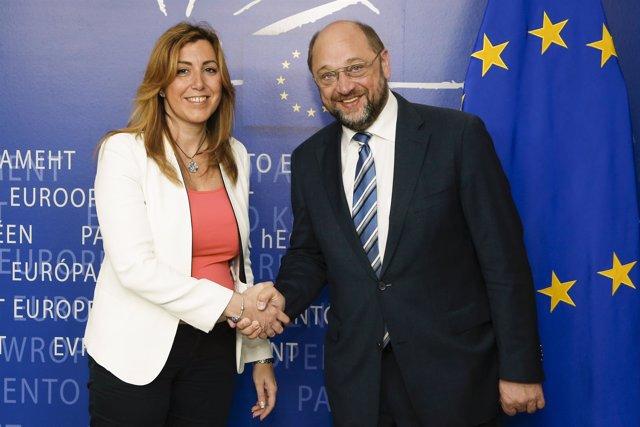 Susana Díaz con Martin Schulz