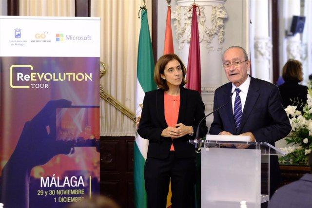 DE la Torre y López Álvarez en la presentación de Reevolution Tour