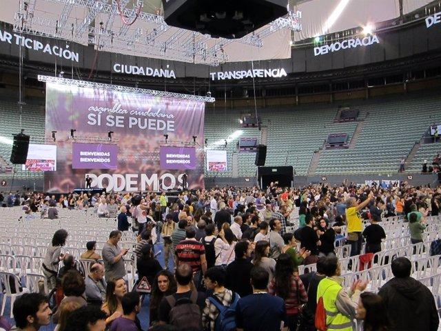 Asamblea Fundacional de Podemos en el Palacio Vistalegre de Madrid