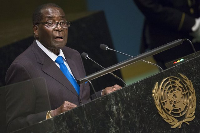 Robert Mugabe, habla ante la ONU