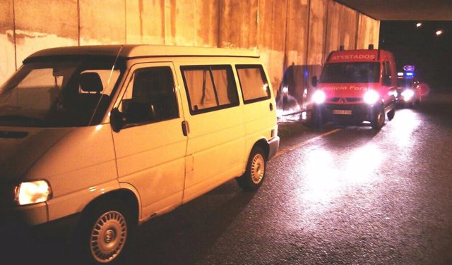 Vehículo del detenido en Arbizu.