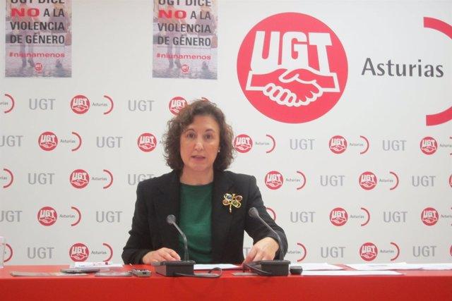 La Secretaria De Igualdad De UGT Asturias, Carmen Escandon