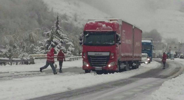 Imagen de Belate con nieve