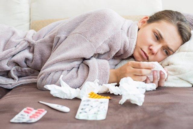 Gripe, resfriado, enferma