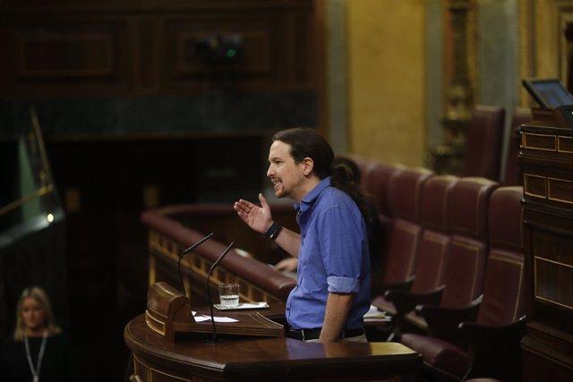 Pablo Iglesias en el pleno del Congreso