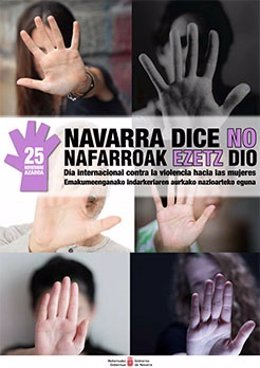 Cartel de la campaña contra la violencia hacia las mujeres.