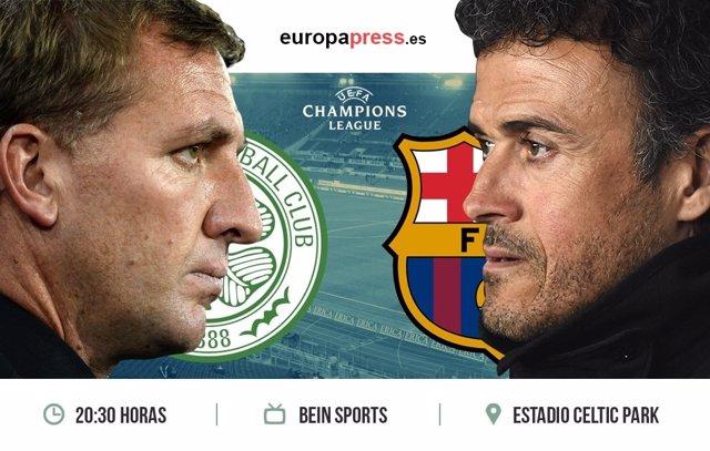 Horario y dónde ver el Celtic de Glasgow – F.C. Barcelona   Fase de grupos Champ