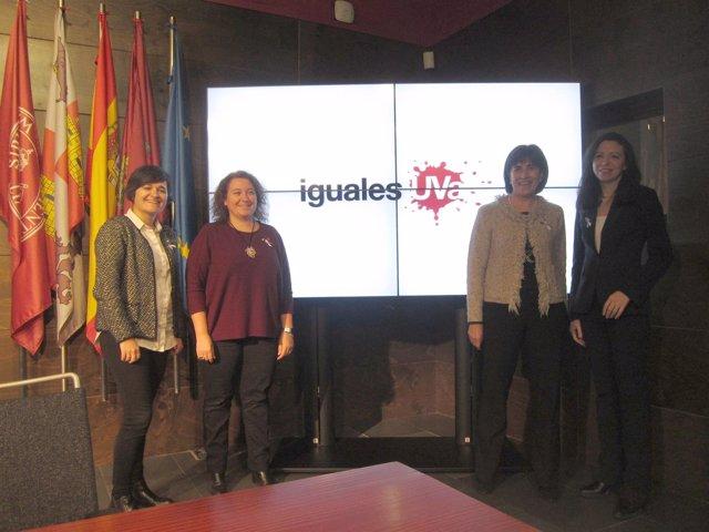 Un momento de la presentación del proyecto 'igualesUVA'