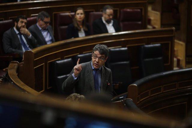 El ministro de Energía, Turismo y Agenda Digital, Álvaro Nadal, en el Congreso