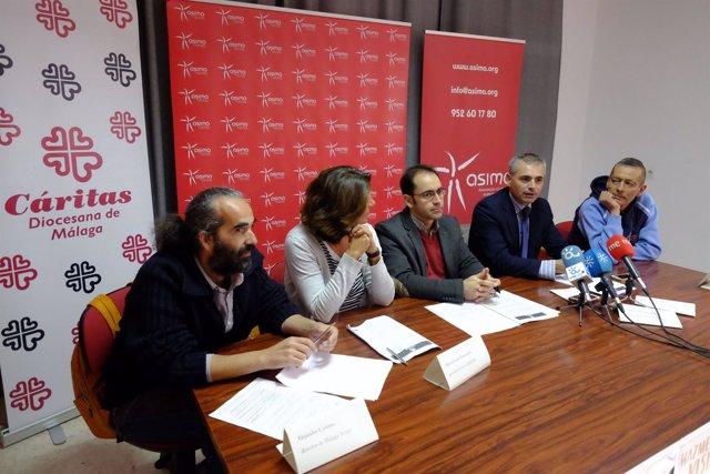 Andrade, Cortina, Cueto y Sánchez en la presentación de la campaña.