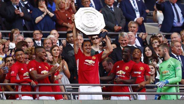Zlatan Ibrahimovic Manchester United Community Shield