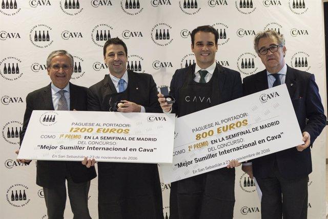 Ganadores semifinal Mejor Sumiller Internacional en Cava