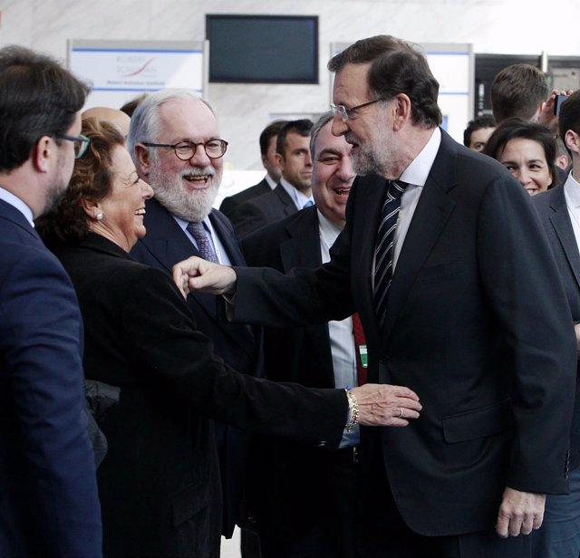 Rajoy y Rita Barberá en el Congreso del Partido Popular Europeo