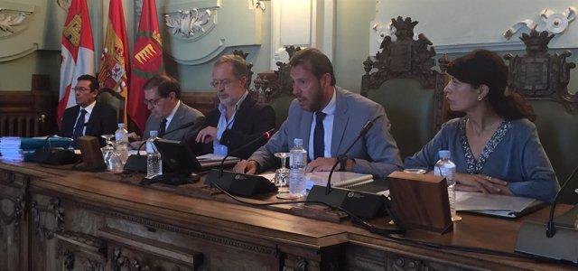 Imagen de archivo de un Pleno del Ayuntamiento de Valladolid