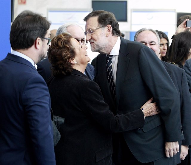 Rajoy y Rita Barberá en el Congreso del Partido Popular Europeo