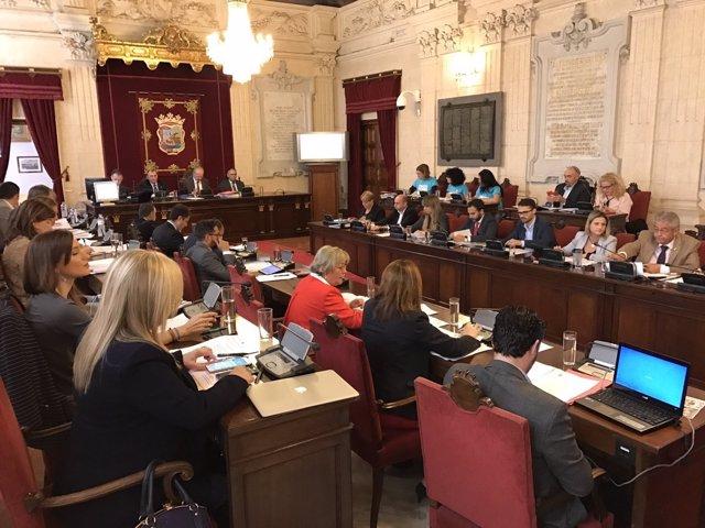 Pleno del Ayuntamiento de Málaga sesión de octubre 2016