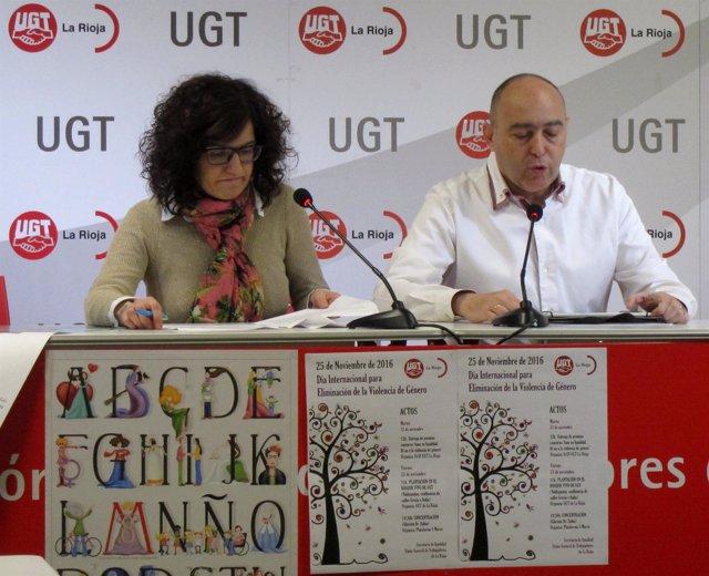 Juanjo Bárcenas y Lara Manero en la rueda de prensa