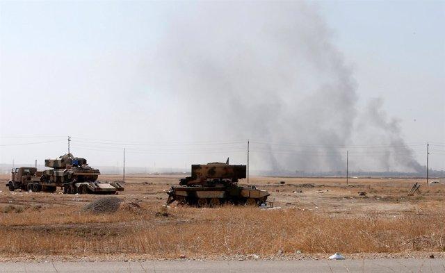 Fuerzas peshmerga implicadas en la ofensiva sobre Mosul