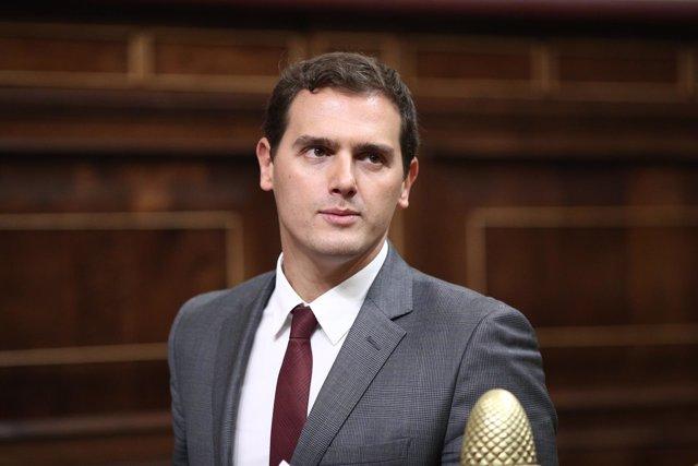 Albert Rivera en el debate de investidura de Rajoy