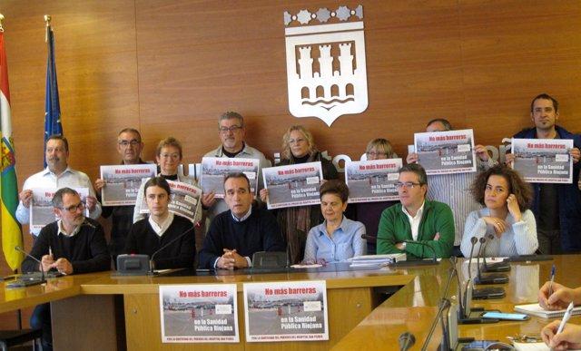 Participantes en la rueda de prensa