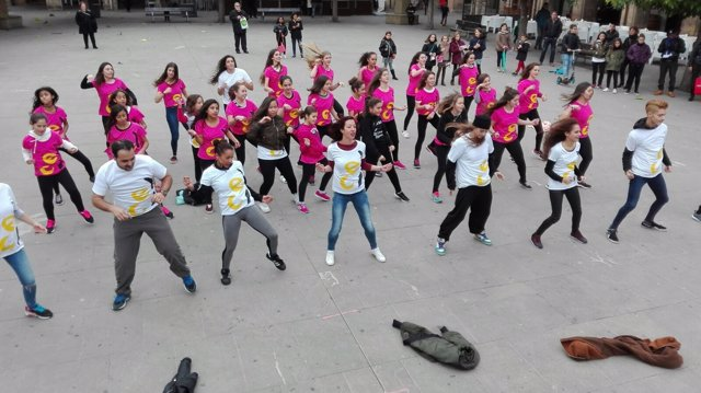 Flashmob realizado en Tafalla