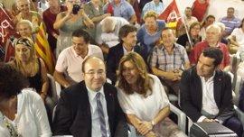Susana Díaz y Miquel Iceta se reúnen esta tarde en la sede del PSOE-A