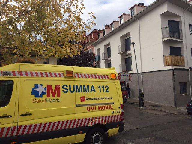 Ambulancia del SUMMA en Aranjuez