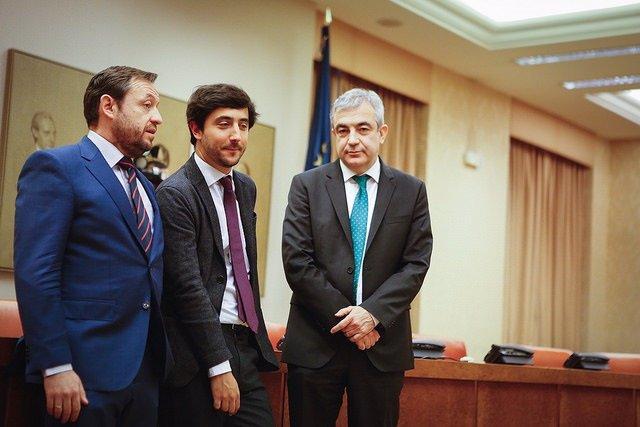 Luis Garicano, Toni Roldán y Francisco de la Torre