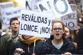 Centenares de estudiantes protestan de nuevo en Madrid contra las 'reválidas'