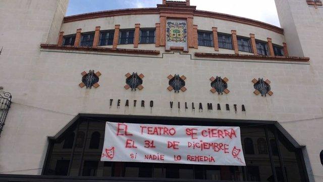Fachada del Teatro Villamarta de Jerez