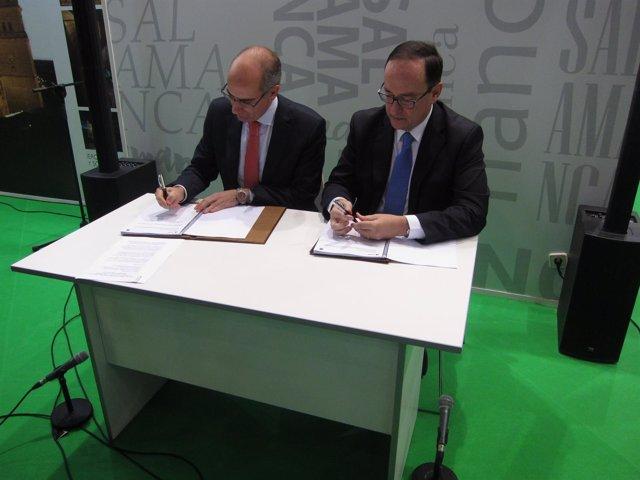 Firma entre Diputación de Salamanca y Adif