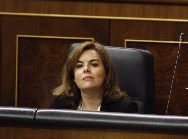 Soraya Sáenz de Santamaría en el Congreso de los Diputados
