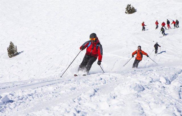 Esquí, Andorra, invierno, Grandvalira
