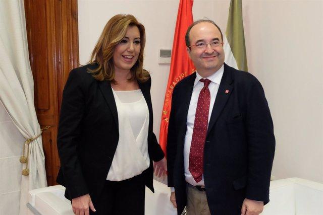 Susana Díaz y Miquel Icetam, reunidos en Sevilla