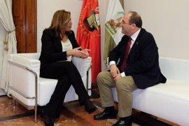 Susana Díaz e Iceta, satisfechos con la reunión, defienden la Declaración de Granada y la necesidad de seguir unidos