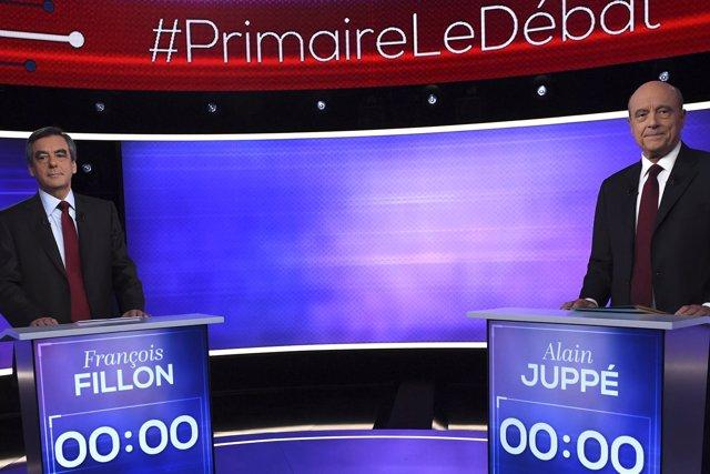 Debate entre François Fillon y Alain Juppé