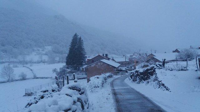 Nieve en Somiedo.