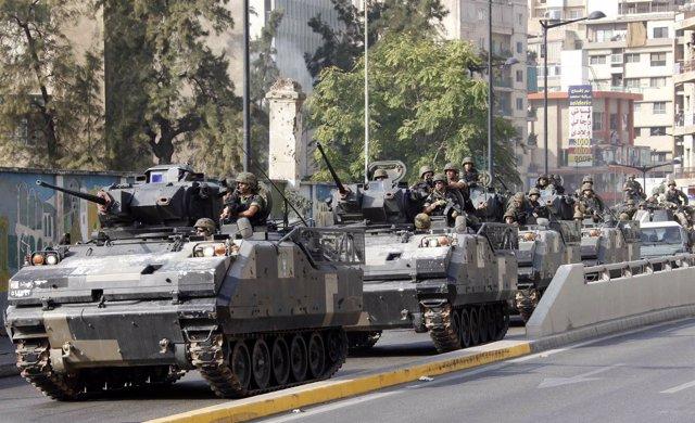"El Ejército libanés anuncia ""medidas decisivas"" para impedir el caos"