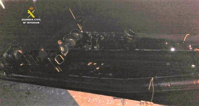 Neumática incautada a narcotraficantes en el río Guadalquivir