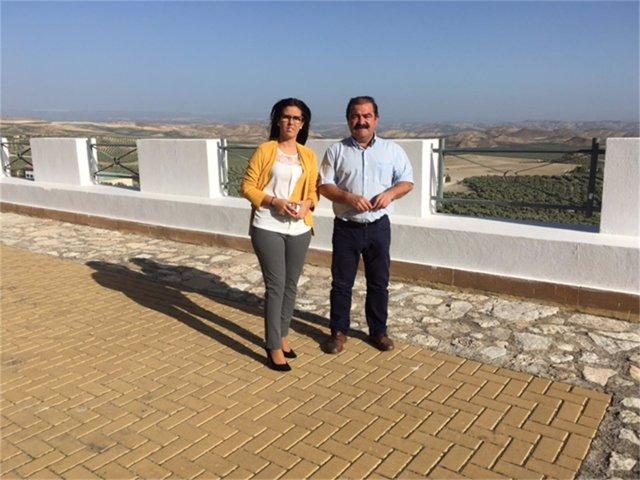 Visita de José Castro a actuaciones de Diputación de Jaén