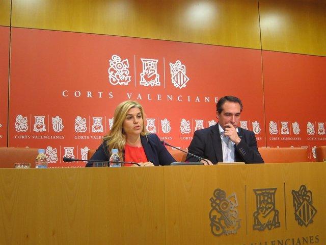 Eva Ortiz y Rubén Ibáñez, del GPP en las Corts