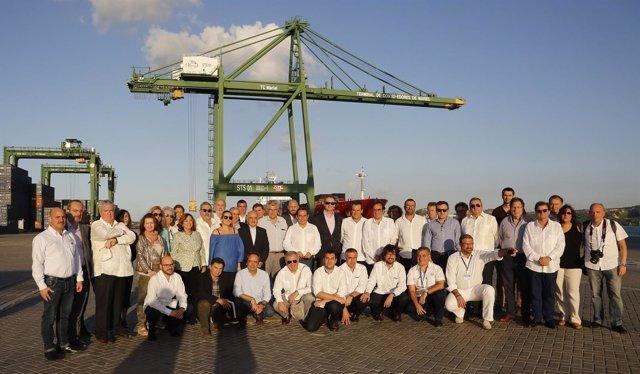 Misión a Cuba de la Generalitat, Puerto de Barcelona e instituciones